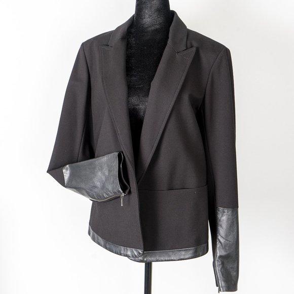 NWOT Danier  Italian Leather blazer - M
